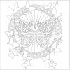 【無料】大人の塗り絵「蝶」