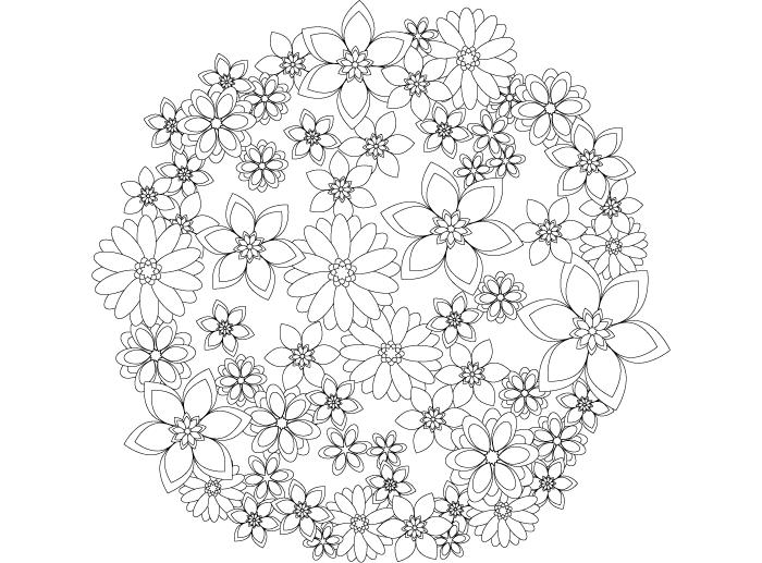 【無料】大人の塗り絵「花」