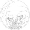 【無料】大人の塗り絵「水槽」